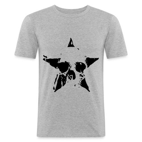 T-Shirt Skull/Star - Männer Slim Fit T-Shirt