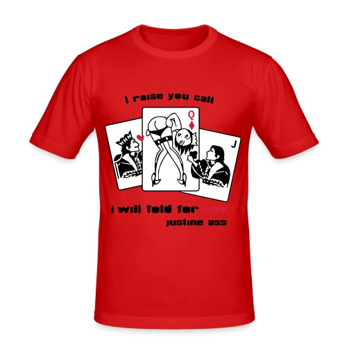 I wll Fold for sex... UOMO - Maglietta aderente da uomo