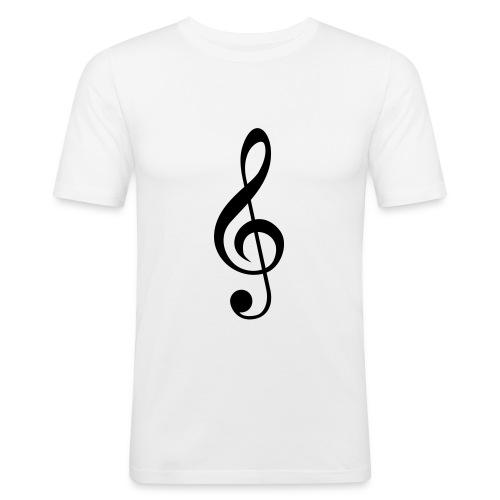 Mens music note Tee - Men's Slim Fit T-Shirt