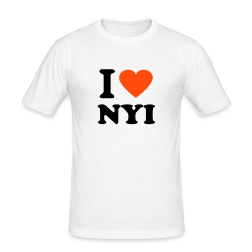 I love NYI Men's Shirt - Men's Slim Fit T-Shirt