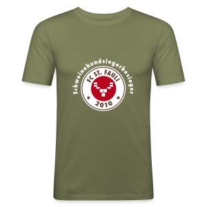 Schweinehundsiegerbesieger - Männer Slim Fit T-Shirt