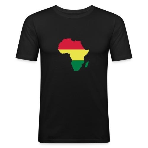 Rasta Afrika - Men's Slim Fit T-Shirt