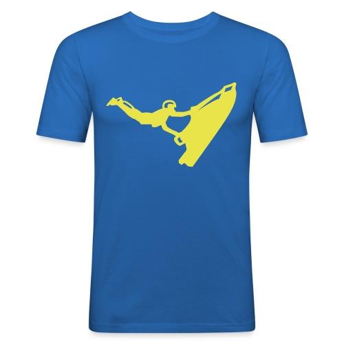 jet air(blue) - Men's Slim Fit T-Shirt