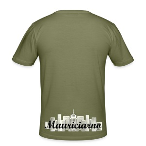 Mannyslim fit T-shirt Desiged By Mogly (Mauriciarno) - Men's Slim Fit T-Shirt