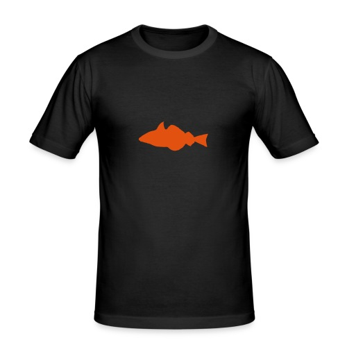 Fisch - gelb/oransje - slim - Männer Slim Fit T-Shirt