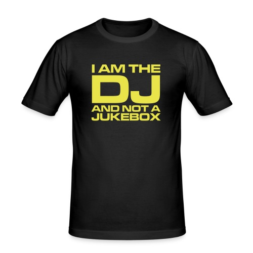 Ron's Wear (Men) i am the dj black/yellow - slim fit T-shirt