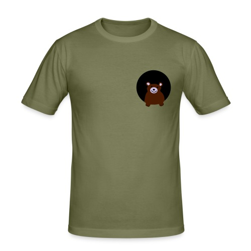 Men's Slim Fit T-Shirt - gay bear, chubby, daddy, fur, furry, cub,