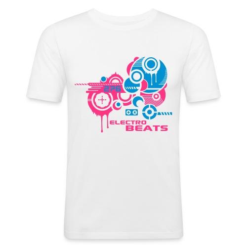 Electro Beats - Männer Slim Fit T-Shirt