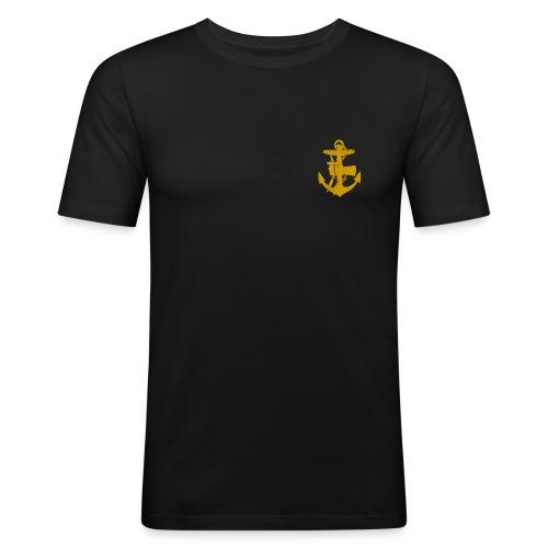 Svart Slim-fit märke vänster bröst - Slim Fit T-shirt herr