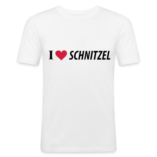 I Love Schnitzel - Männer Slim Fit T-Shirt
