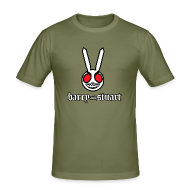 T-Shirts ~ Men's Slim Fit T-Shirt ~ B&S Evil Bunny: Men's Fitted Tee