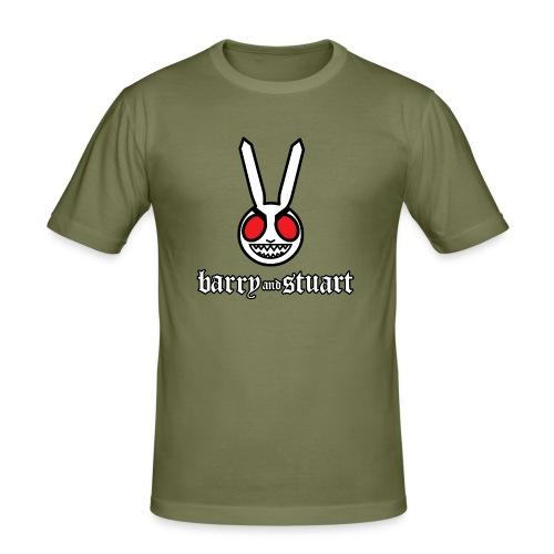 B&S Evil Bunny: Men's Fitted Tee - Men's Slim Fit T-Shirt