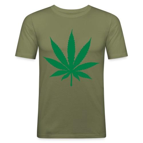 Cannabis - Männer Slim Fit T-Shirt