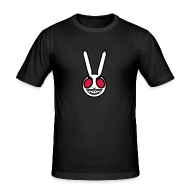 T-Shirts ~ Men's Slim Fit T-Shirt ~ Evil Bunny: Men's Fitted Tee