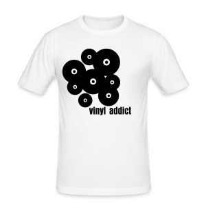 Men Shirt - Vinyl Addict - Männer Slim Fit T-Shirt