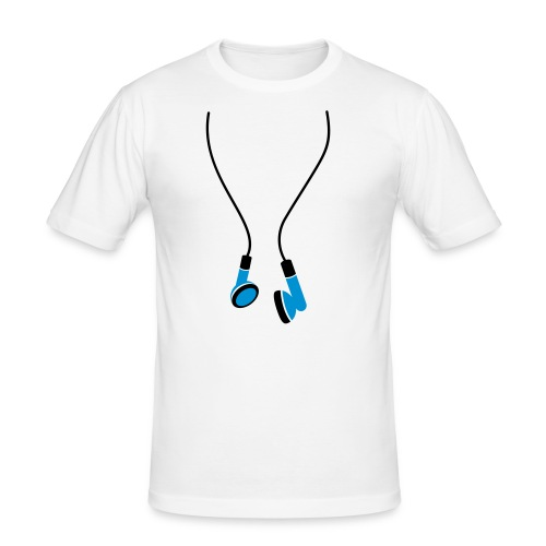 T-Shirt Homme Ecouteurs - T-shirt près du corps Homme