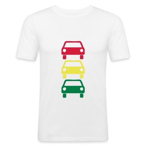 Trafikklys slim fit - Slim Fit T-skjorte for menn
