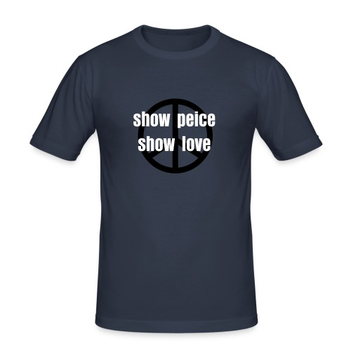 how peice and love - Men's Slim Fit T-Shirt