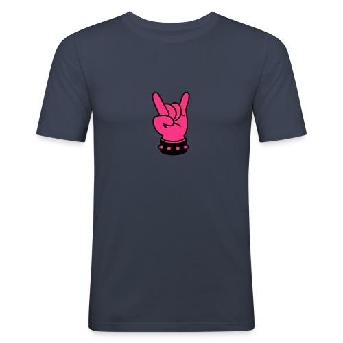 Tringer Finger - Männer Slim Fit T-Shirt