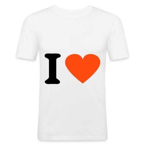 T-shirt slim fit logo i love - Maglietta aderente da uomo