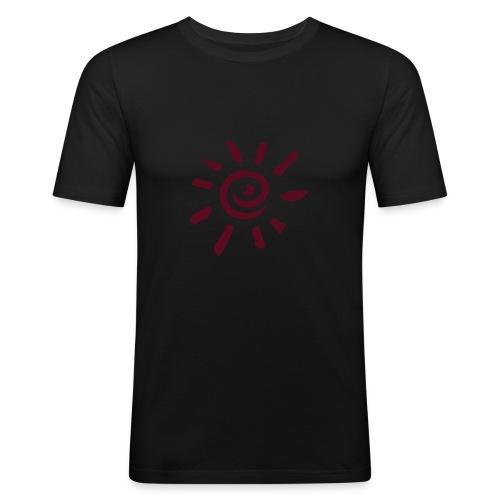 T-shirt mit roter Sonne - Männer Slim Fit T-Shirt