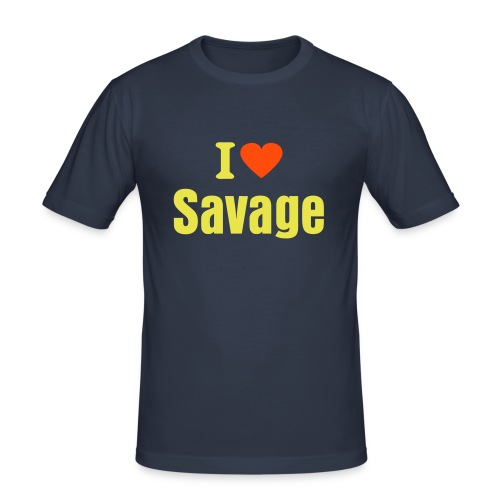 I love Savage - Männer Slim Fit T-Shirt