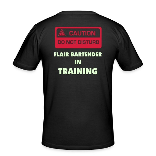 Flair bartender in training - T-shirt près du corps Homme