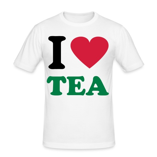 Mens Slim Fit - I Love Tea - Men's Slim Fit T-Shirt