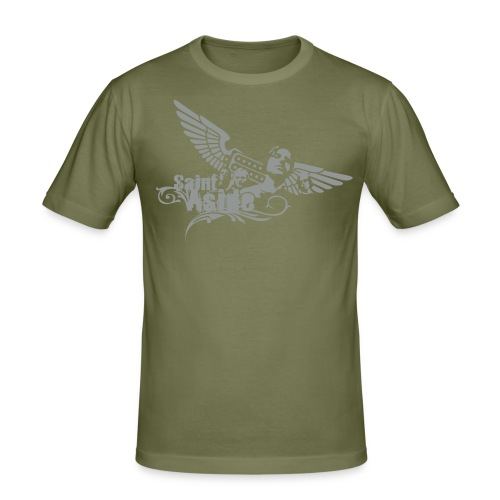 Basic Shirt (braun) - Men - Männer Slim Fit T-Shirt