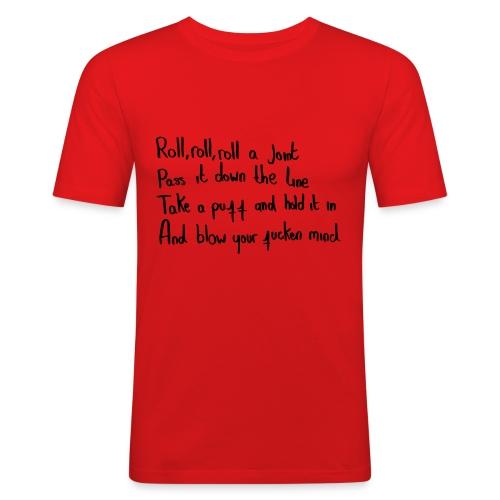 roll roll  - Men's Slim Fit T-Shirt