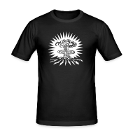 Tee shirts ~ Tee shirt près du corps Homme ~ Noir bombeA2 Hommes