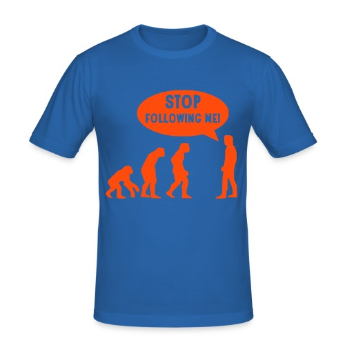 Stop Evolution - Maglietta aderente da uomo