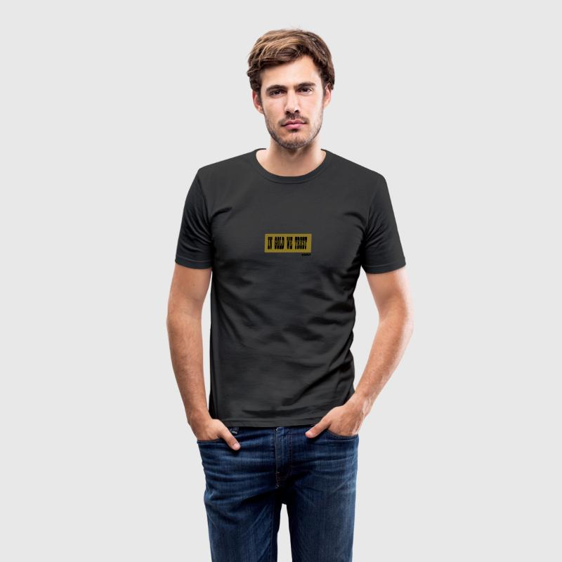 Zwart in gold we trust by wam T-shirts - slim fit T-shirt