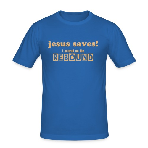jesus saves.. - Men's Slim Fit T-Shirt