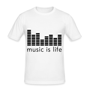 Music is life - Tee shirt près du corps Homme