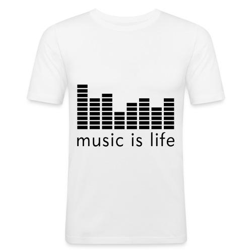 Music is life - T-shirt près du corps Homme