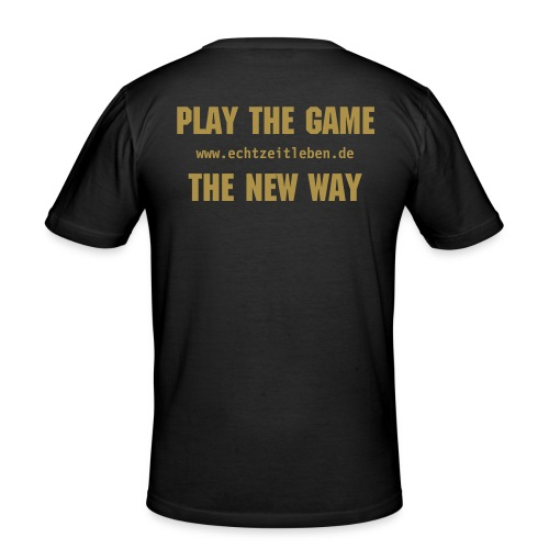 Play the Game Gold Glitter - Männer Slim Fit T-Shirt