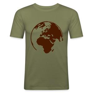 Wereld Heren - slim fit T-shirt