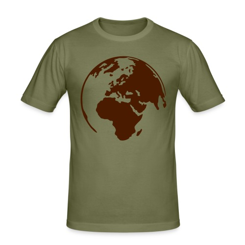 Wereld Heren - slim fit T-shirt