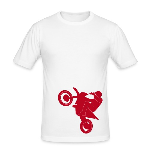 Faster moto (white) - Miesten tyköistuva t-paita