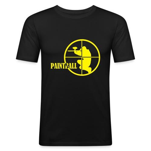 Paintball t-shirt noir et jaune  - T-shirt près du corps Homme