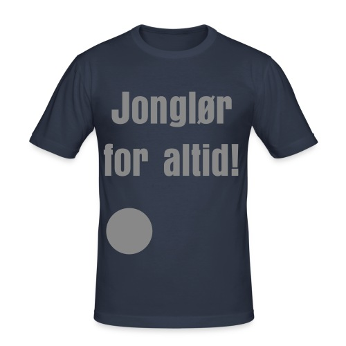 Slim Fit T-shirt - Jonglør for altid i GLIMMER SØLV Herre model - Herre Slim Fit T-Shirt