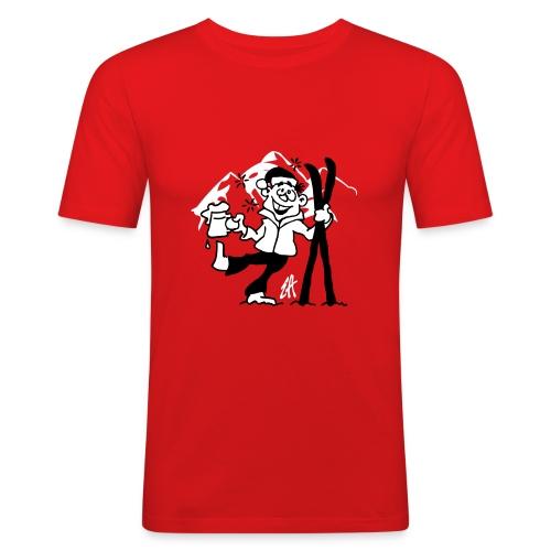 Champion de descente ! ( de vin chaud ) - T-shirt près du corps Homme