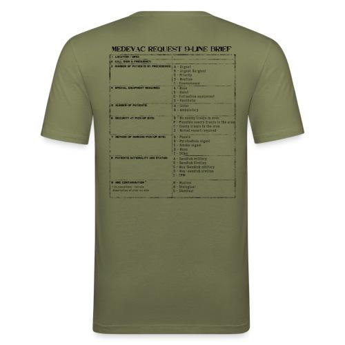 T-shirt 9-liner - Slim Fit T-shirt herr