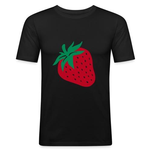 Frisch und Gesund durch den Sommer! Mit dieser leckeren Erdbeere, findet dich jeder zum Anbeißen! Garantiert! - Männer Slim Fit T-Shirt