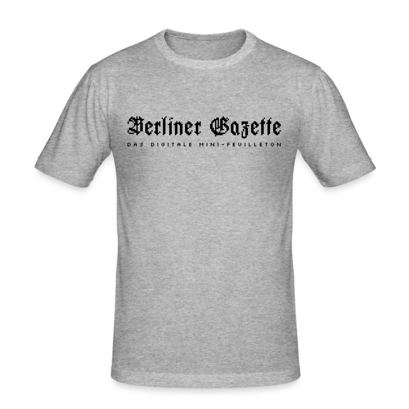 Berliner Gazette by TM (f) - Männer Slim Fit T-Shirt