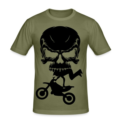 skull - Slim Fit T-shirt herr