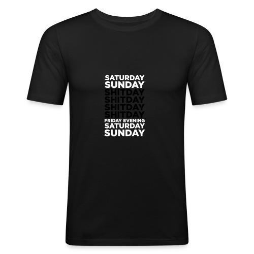 Weeekeeeennnnddddd - slim fit T-shirt