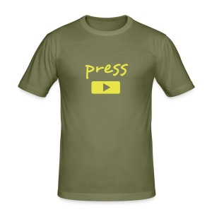press play - Camiseta ajustada hombre