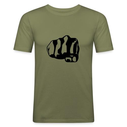 T.skjorte med hånd motiv - Slim Fit T-skjorte for menn